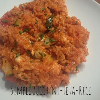 [Food] Einfache Zucchini-Feta-Reispfanne // Simple Zucchini-Feta-Rice