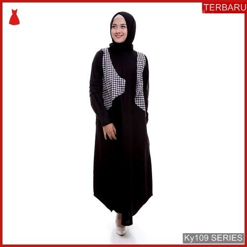 Ky109g55 Gamis Muslim Claretta Murah Set Bmgshop Terbaru