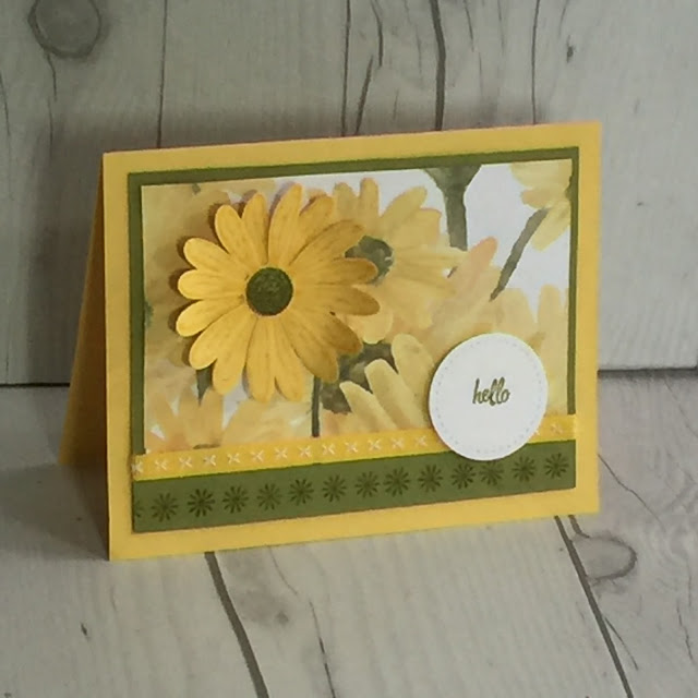 Handmade card using Daisy Punch and the Daisy Delight stamp set