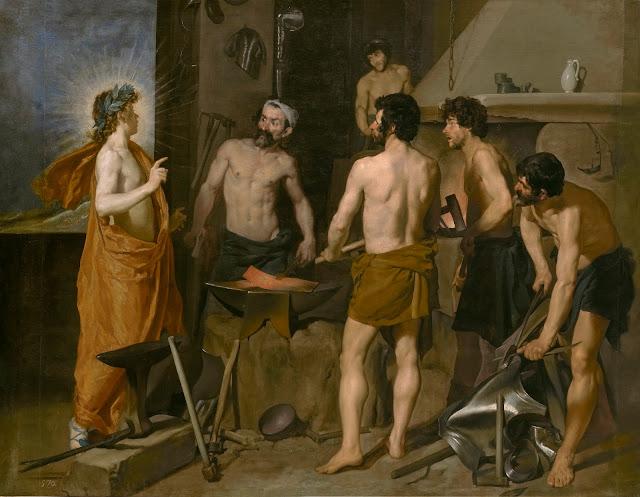 Velázquez, La fragua de Vulcano, 1630