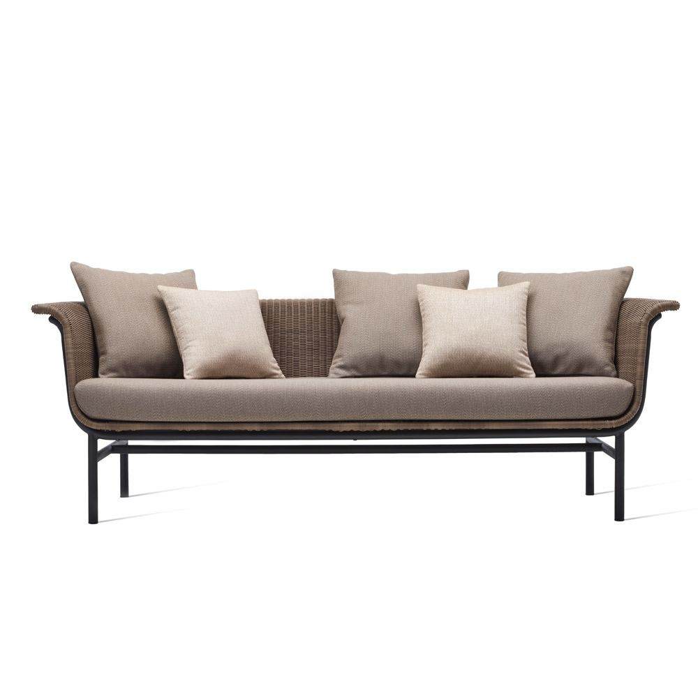 Vincent Sheppard Wicked Sofa Polyethylene Wicker Aluminium With Seat  Cushion £2145.00 Houseology (Shop Now)