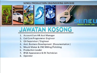 Jawatan Kosong Senku Production Engineering