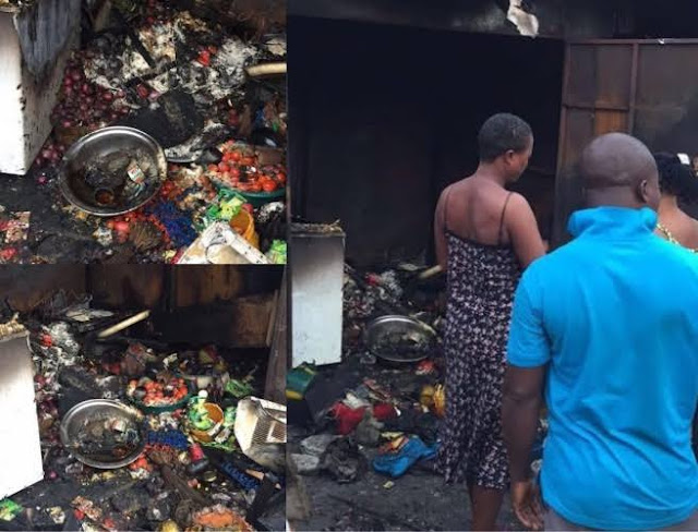 man sets his wife's shop ablaze for telling him to stop stealing her money