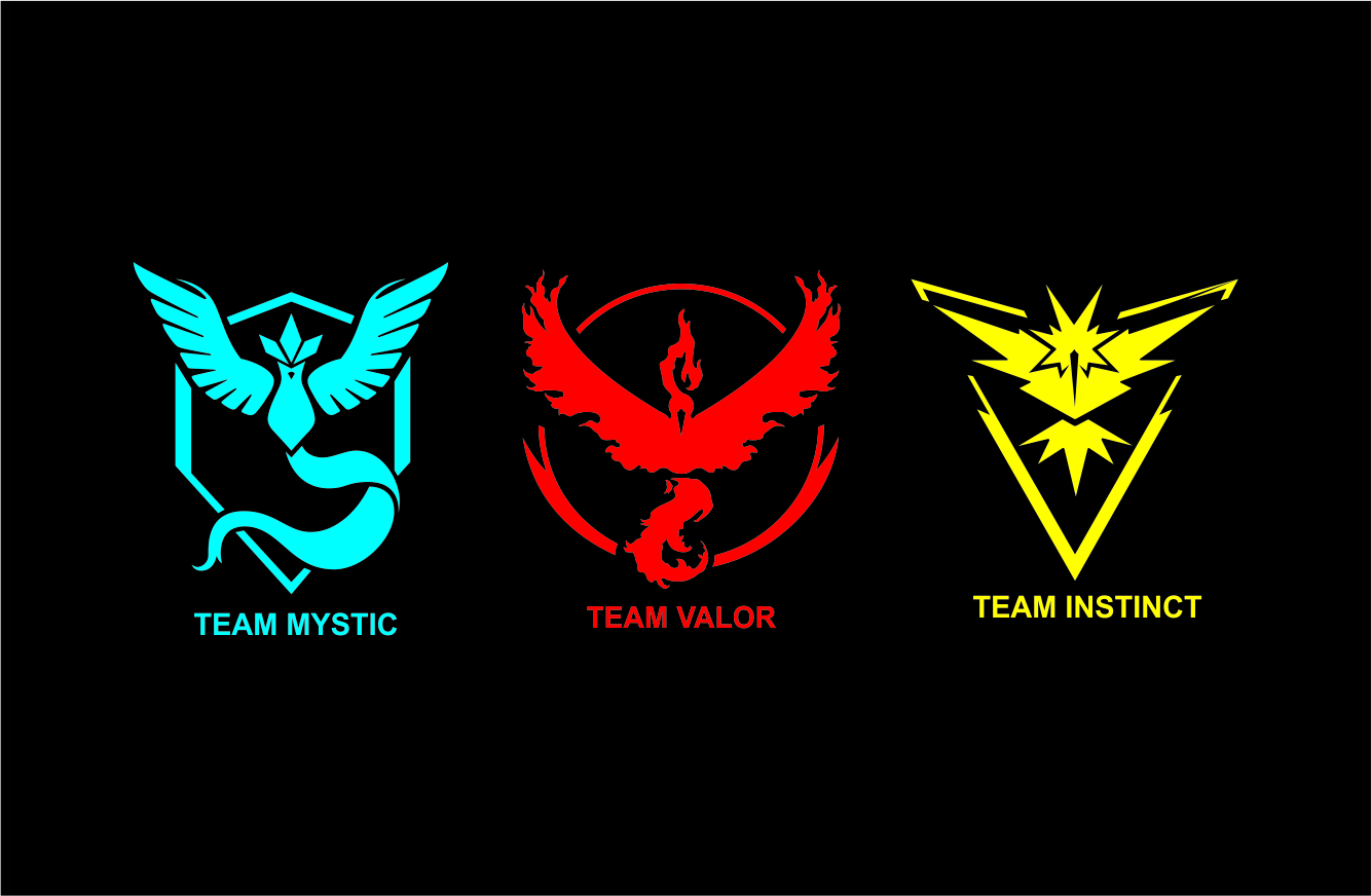 Pokemon Go Team Logos Vector Download