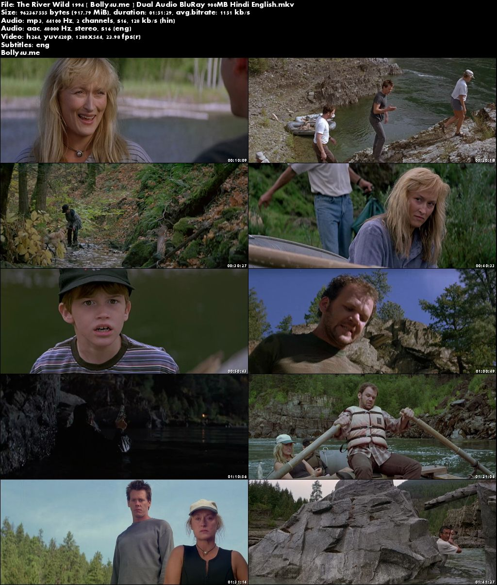 The River Wild 1994 BluRay 350MB Hindi Dual Audio 480p Download