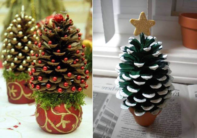 podelka-elka1 30 Simply Magical DIY Pinecones Ideas Interior