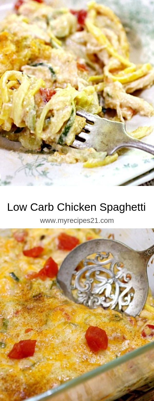 Low Carb Chicken Spaghetti