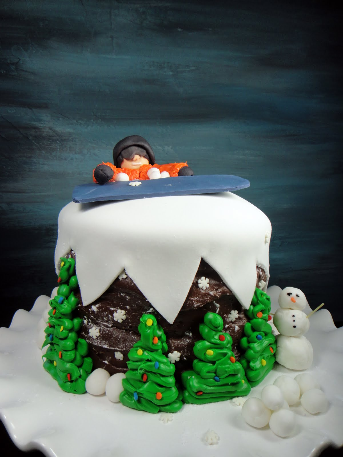 Worth Pinning Snowboarder Cake