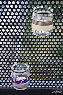 DIY photophores en pots de yaourt