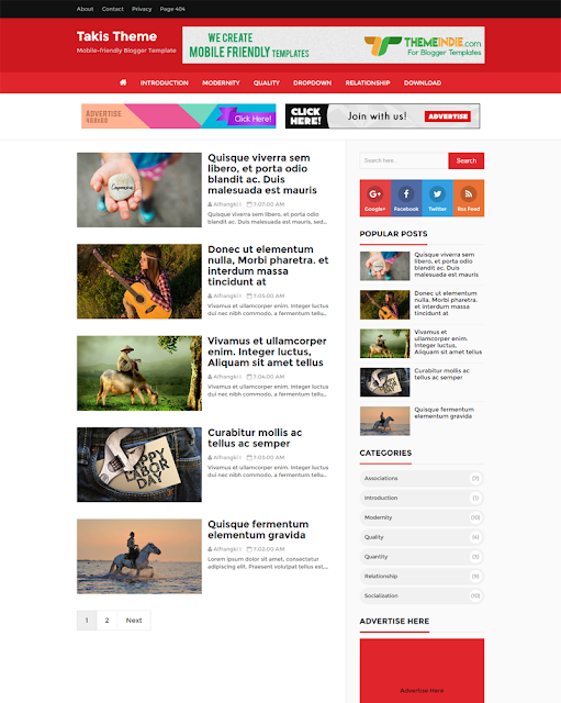 [Event] Chia sẻ theme Takis  V1.9 - High CTR, SEO Friendly and Responsive Blogger Template  update 12/2018