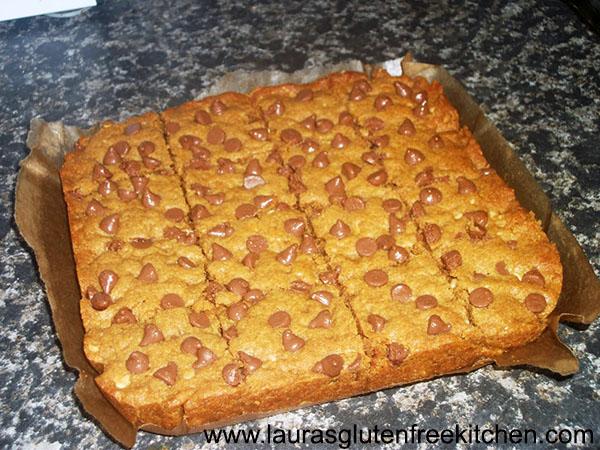 Gluten Free Peanut Butter Blondies