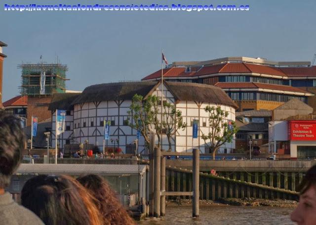 Reproducción de The Globe, el teatro de Shakespeare
