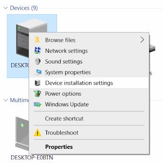 disable driver auto update in windows 10