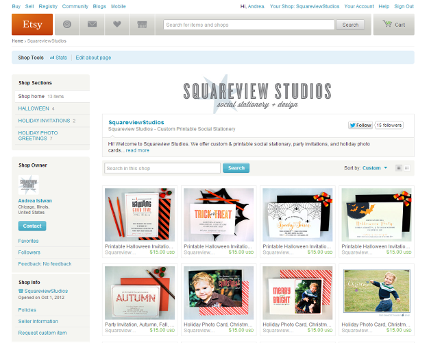 SquareView Studios: IT'S OFFICIAL - THE ETSY SHOP IS OPEN!