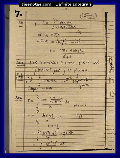 definite integrals 7
