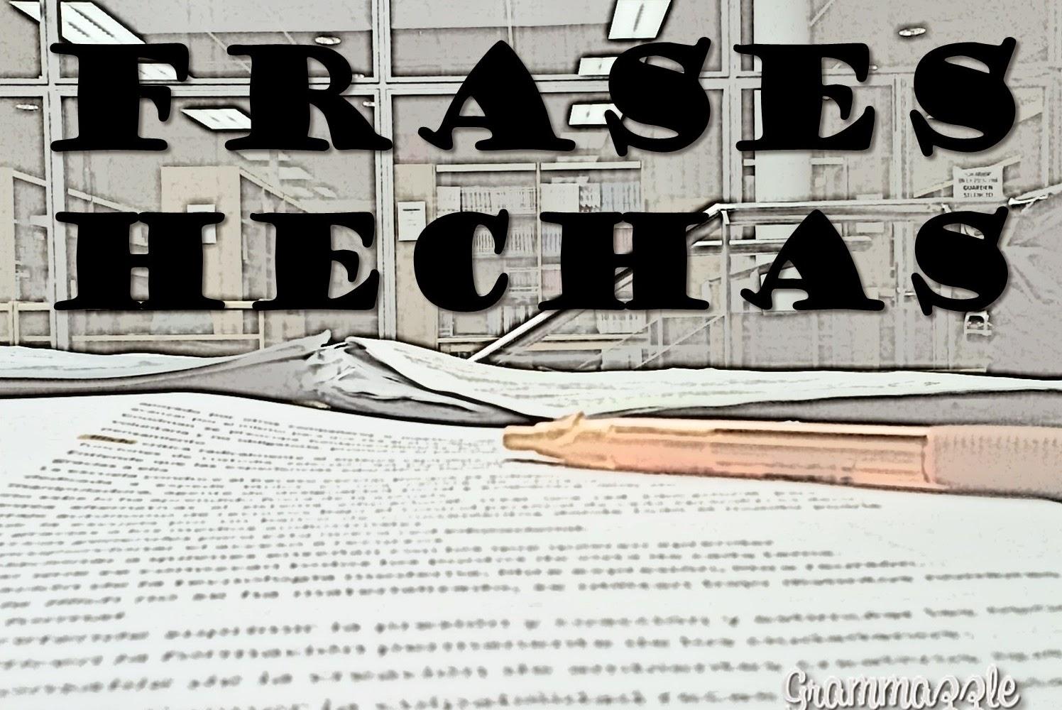 Grammazzle Frases hechas España español spanish Inglaterra Inglés english Idioms
