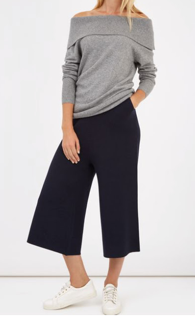 Jaeger cashmere off shoulder sweater