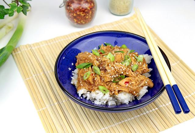 szarpany kurczak sweet chilli
