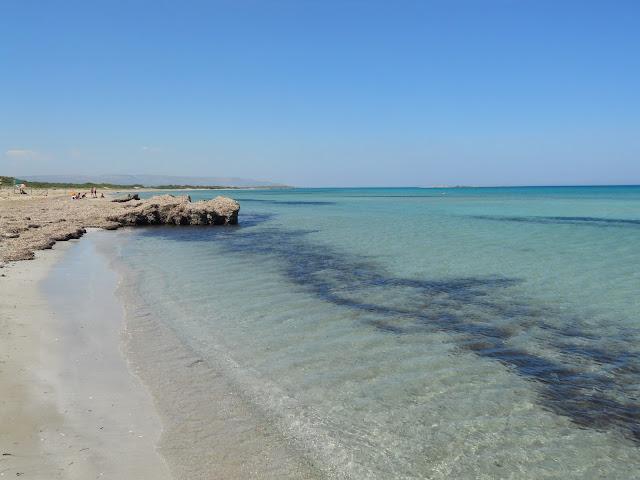 La spiaggia di Calamosche nell'Oasi di Vendicari