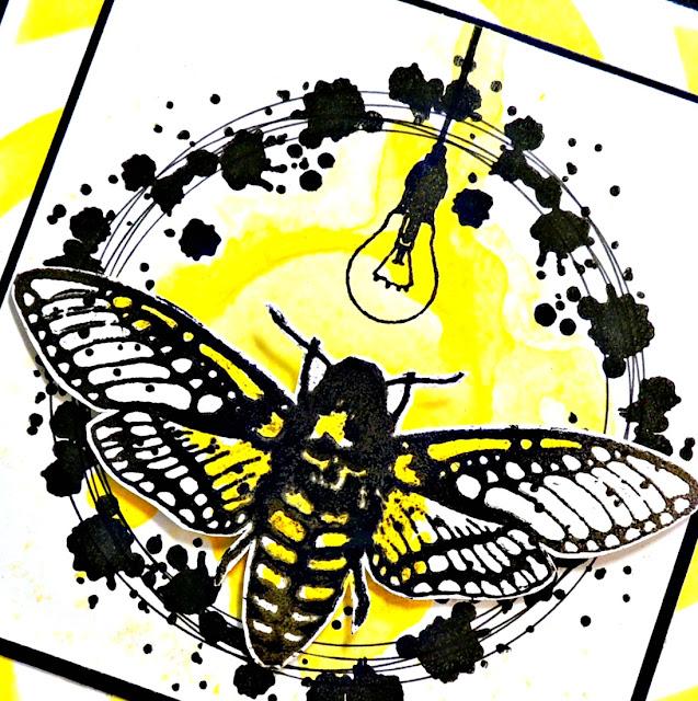Visible Image - Moth Stamp - Light Bulb stamp