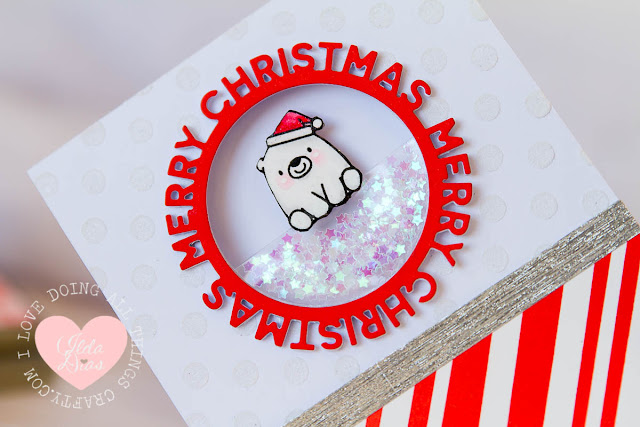 Merry Christmas from Bitty Bear - a Pocket Shaker Card MFT