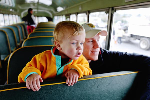 exploring a bus