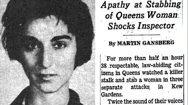 Durant plus d'une demi-heure, 38 citoyens honnêtes et respectables de Queens ont regardé un tueur suivre et poignarder une femme, au cours de trois attaques distinctes, dans Kew Gardens