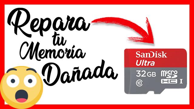 Como Reparar memoria micro SD Dañada