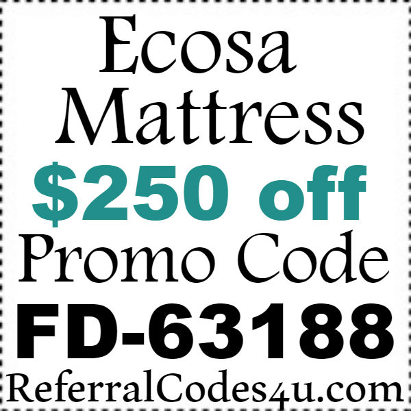 Ecosa.com Promo Codes 2016-2017, Ecosa Mattress Coupon September, October, November