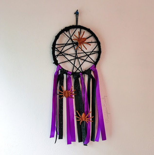 DIY Spider Web Embroidery Hoop Dreamcatcher Wall Decor