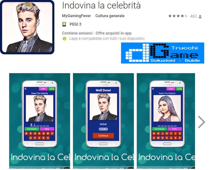 Indovina la Celebrità (LOGO J.BIEBER) Soluzioni | Screenshot e Nomi