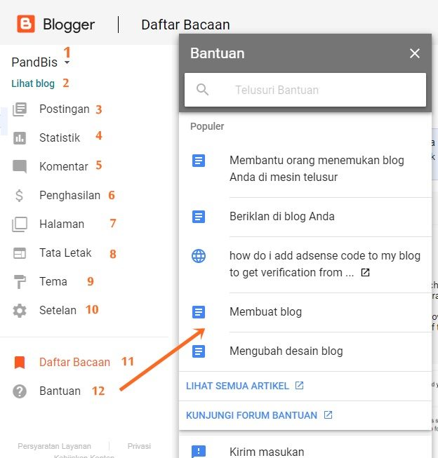 tampilan dashboard blogger versi lama