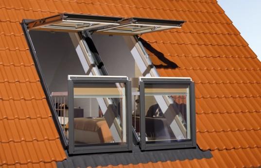 a583c32688c59 Projetado para clarabóias sobre telhados inclinados, o sistema funciona  através da instalação de duas janelas que se abrem para cima e duas para  baixo, ...
