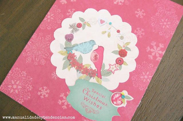 Tarjeta navideña hecha a mano