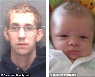 Travis Mullis, 25, (left) killed his three-month-old son Alijah (right) in 2008.