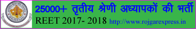 Rajasthan Third Grade Teacher Vacancy 2017