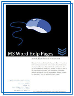 https://www.teacherspayteachers.com/Product/MS-Word-Formatting-Tips-for-Students-Keyboarding-Skills-freebie-571402