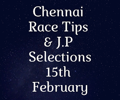 Chennai Jackpot Selections 15th February