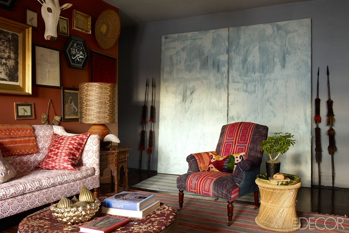 Mix And Chic: Home Tour- A Textile Designer's Exotic New