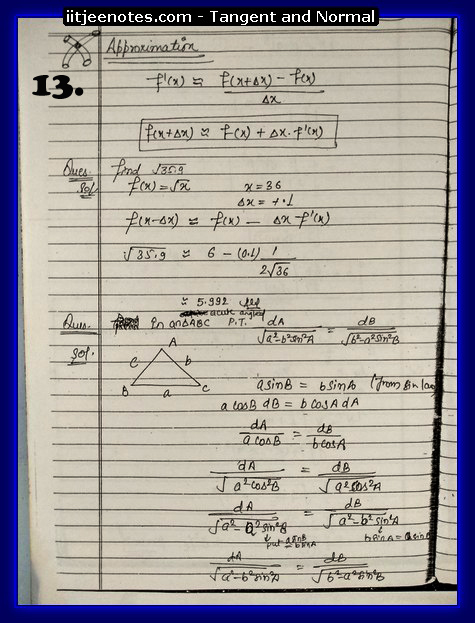 Tangent and Normal Notes8