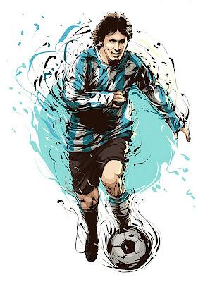 Ilustración con vectores de Lio Messi