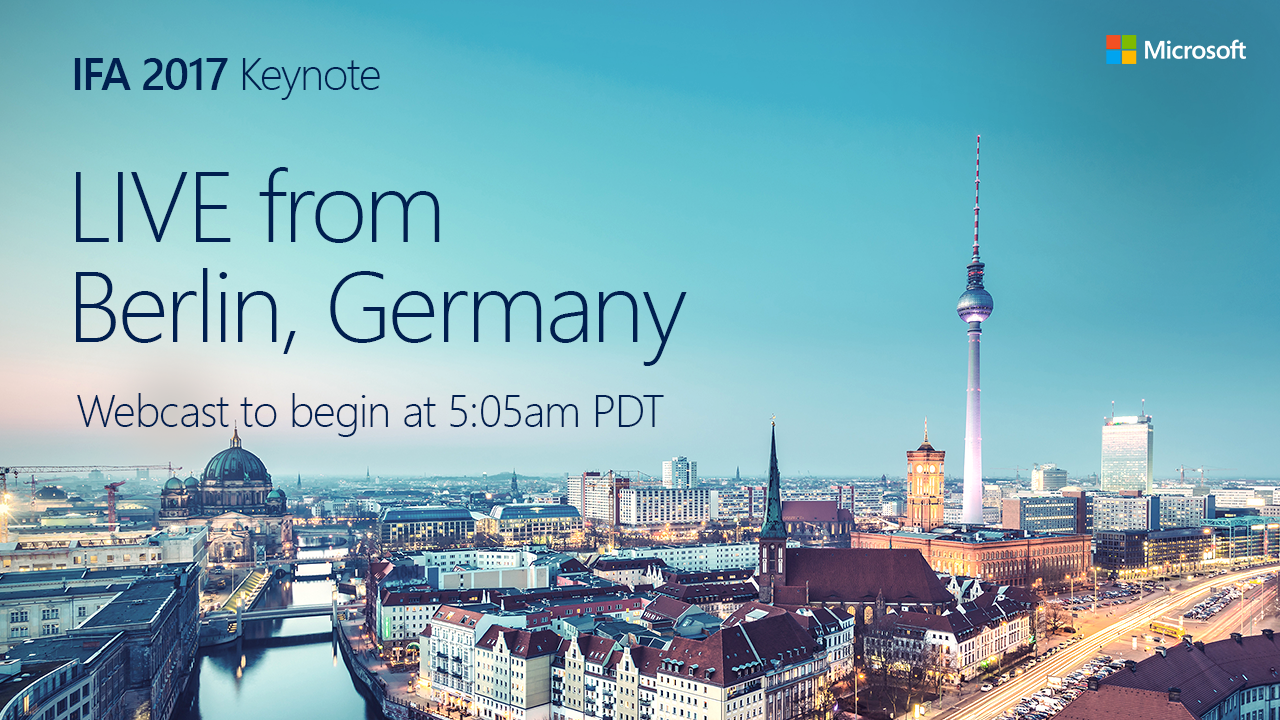 IFA-2017-Live-Streaming-Microsoft-Keynote
