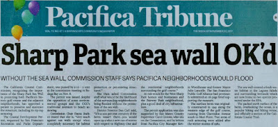 Pacifica Tribune: Sharp Park Sea Wall OK'd Coastal Commission: Managed Retreat is Not Feasible