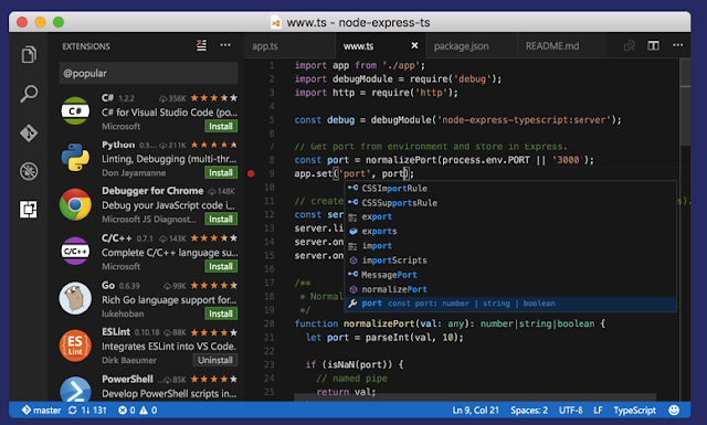 Download Visual Studio Code 2017 for Mac and Windows