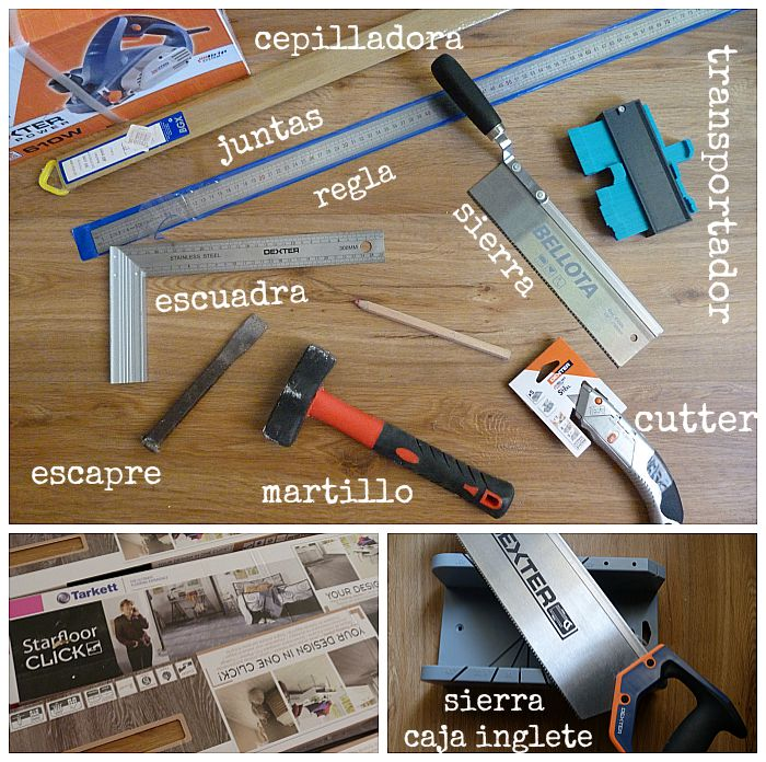 materiales necesarios para colocar suelo vinílico con sistema click