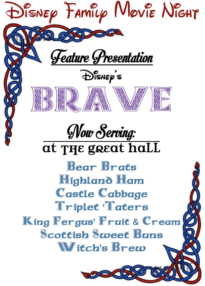 Sk Studios Homemaking Disney Family Movie Night Brave