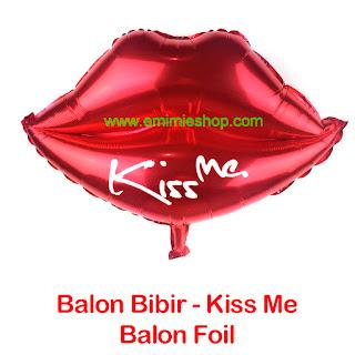Balon Foil Bibir - Bibir - Balon Foil Kiss Me