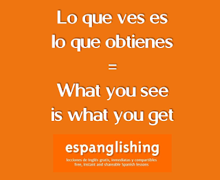 Lo que ves es lo que obtienes = What you see is what you get