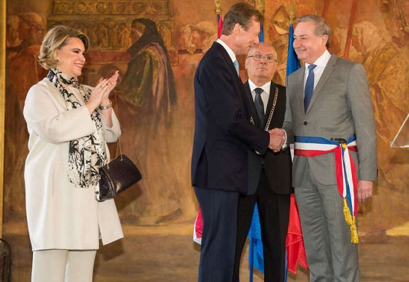 Grand Duke Henri and Grand Duchess Maria Teresa  met with the mayor Jean-Luc Moudenc