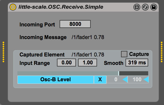 little-scale: Simple OSC Receiver to Ableton Live Parameter